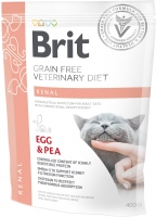 Brit Veterinary Diet Cat, Renal, яйца и горох, 0.4kg