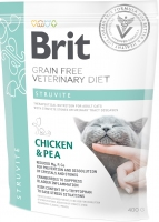 Brit Veterinary Diet Cat, Struvite, курица и горох, 0.4kg