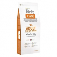 Brit Care Dog Adult Medium Breed Lamb&Rice 12kg+ 2kg в подарок