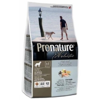 Pronature Holistic Adult Atlantic Salmon&Brown Rice сухой холистик корм для собак всех пород 2,72кг