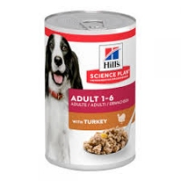 Hill's Adult Dog 1-6 Advanced Fitness Turkey 370g cans