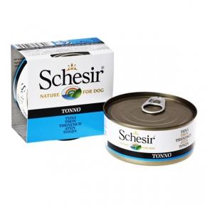 Schesir Tuna консервы для собак с тунцом и рисом, банка, 150 г