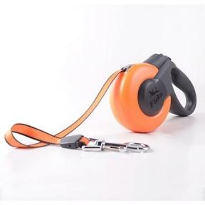Fida Поводок-рулетка Mars 12A-5M Tape, M, 25кг/5м, оранжевая