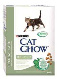 Cat Chow Sterilized Сухой корм для стерилизованных кошек и кастрированных котов 400г