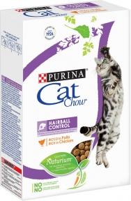 Cat Chow Hairball Control Сухой корм для кошек Контроль вывода шерсти 400g