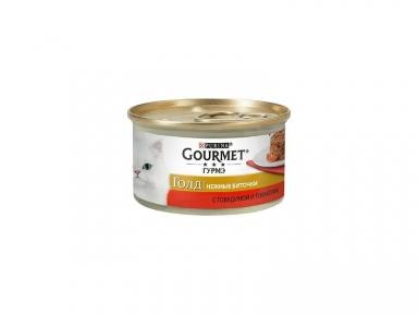 Gourmet Gold нежные биточки говядина и томаты 85г