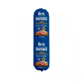 Brit Premium Dog Sausage 800g, колбаса говядина с рыбой для активных собак