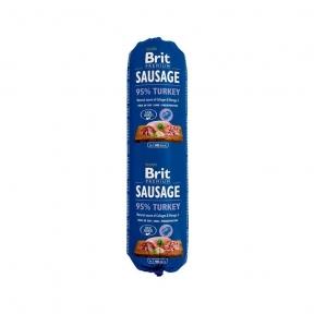 Brit Premium Dog Sausage 800g, колбаса индейка
