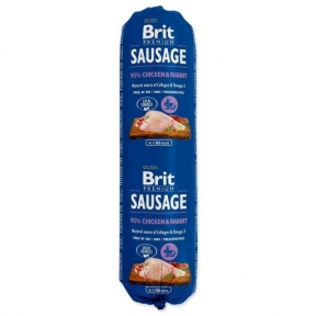 Brit Premium Dog Sausage 800g, колбаса курица и кролик