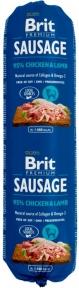 Brit Premium Dog Sausage 800g, колбаса курица и ягненок