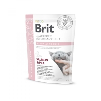 Brit Veterinary Diet Cat, Hypoallergenic, лосось и горох, 0.4kg