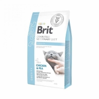 Brit Veterinary Diet Cat, Obesity, курица и горох, 2kg