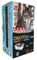 Alpha Spirit Only Fish Полувлажный корм для собак с рыбой 210g, 1шт