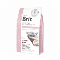 Brit Veterinary Diet Cat, Hypoallergenic, лосось и горох, 2kg